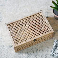 Decorative Woven Wood Box