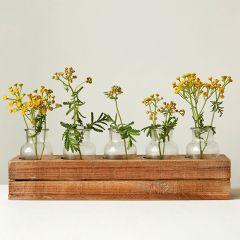 Boxed Bottle Vase Centerpiece