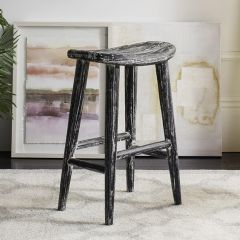 Distressed Backless Counter Stool