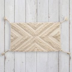 Patterned Cotton Accent Rug With Tassels