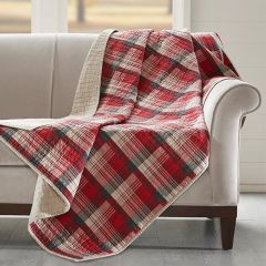 Cozy Plaid Quilted Blanket
