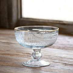 Footed Glass Bowl Compote