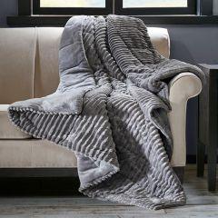 Plush Corduroy Throw Blanket