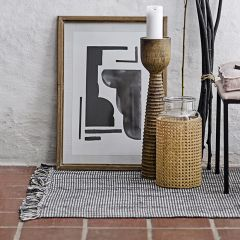 Woven Rug With Fringe