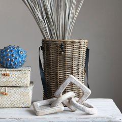 Handwoven Handled Creel Basket