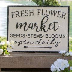 Seeds Stems Blooms Sign