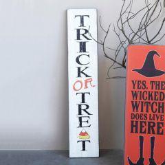 Trick Or Treat Wood Wall Decor