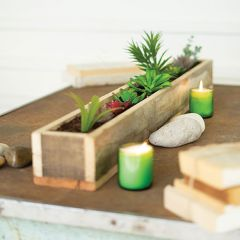Recycled Wood Box Centerpiece Planter