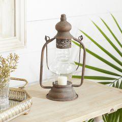 Rustic Antiqued Tabletop Lantern