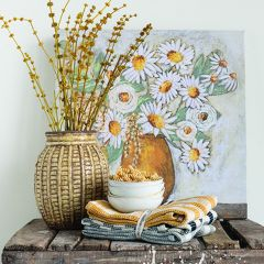 Cheerful Vase Bouquet Wall Art Set of 2