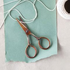 Burnt Finish Copper Scissors