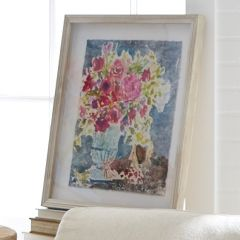 Flowers In Vase Framed Shadow Box