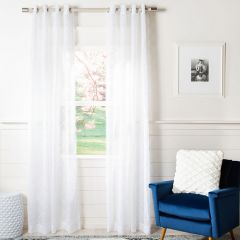 Simple Semi Sheer Window Panel Set of 2