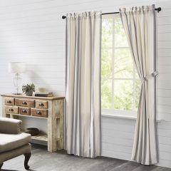 Grain Sack Stripe Panel Curtain Set of 2