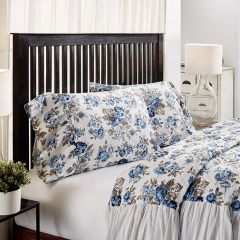 Floral With Ruffle Pillow Case Set of 2