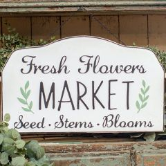 Seed Stems Blooms Farmhouse Sign