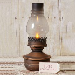 Tin and Glass Oil Lamp Replica