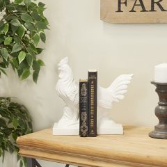 Classic Farmhouse Rooster Bookends