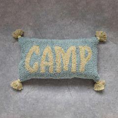 Tasseled Cotton Lumbar Pillow Camp