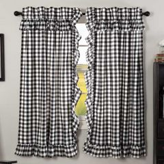 Buffalo Check Short Curtain Panel Set of 2