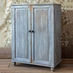 Distressed Hallway Storage Cabinet