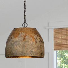 Weathered Metal Hanging Light