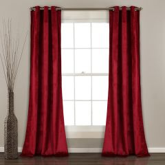 Deep Velvet Curtain Panel Set of 2