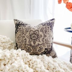 Patterned Chenille Accent Pillow
