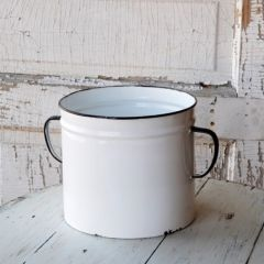 Painted Enamel Can Planter