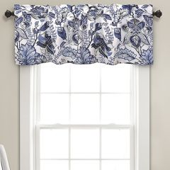 Floral Pattern Room Darkening Valance Curtain