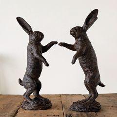 Bunnies At Play Statues Set of 2