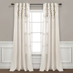 Simply Chic Ruched Waterfall Curtain Panel Set of 2