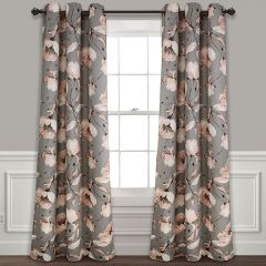 Classic Floral Curtain Panels Set of 2