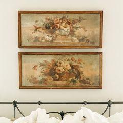 Framed Floral Canvas Prints Set of 2