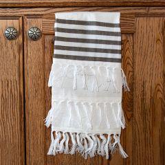 Simple Stripes Fringe Trim Tea Towel Set of 3