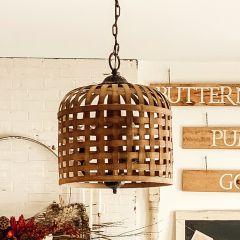 Basket Weave Pendant Light