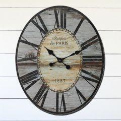 Paris 1887 Wood Clock