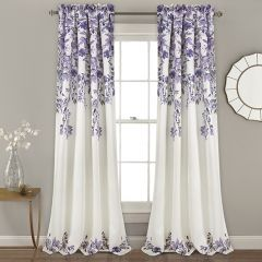 French Country Floral Curtain Panels Set of 2