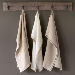 Simple Farmhouse Linen Dish Towel Set of 3