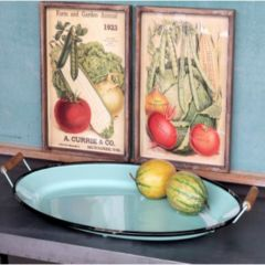 Vintage Inspired Oval Decorative Tray