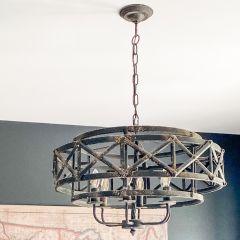 Rugged Metal Trestle Chandelier