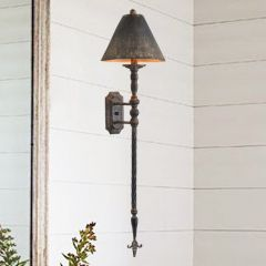 Tall Distressed Provincial Sconce