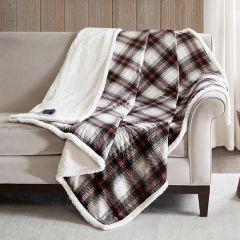 Plaid Heated Throw Blanket