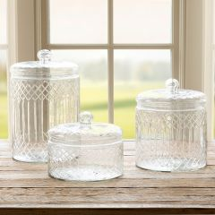 Classic Etched Glass Canister