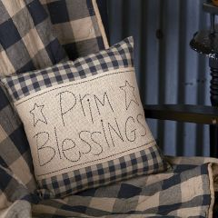 Country Check Prim Blessing Pillow