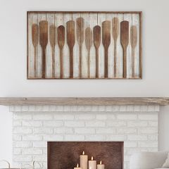 Wood Framed Rustic Paddles Wall Decor