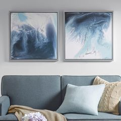 Abstract Tranquility Framed Wall Art Set of 2