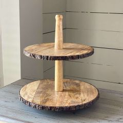 Primitive Farmhouse Tiered Display Stand