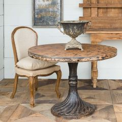Round And Refined Painted Bistro Table