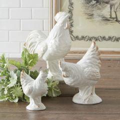 Ceramic Chicken Decor Set of 3